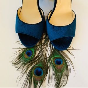 Betsy Johnson Blue Suede heels Ankle strap